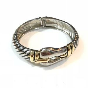 Jewelry - Silver and Gold toned buckle hinge bracelet!